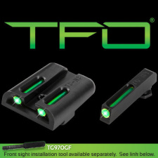 TRUGLO TRITIUM FIBER-OPTIC GLOCK LOW SET